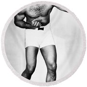Archie Moore (1913-1998) Round Beach Towel