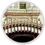 Architectural Detail New Orleans Round Beach Towel