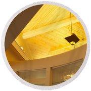 Architectural Interior 4 Round Beach Towel