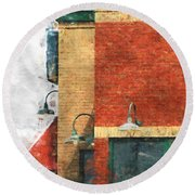 Arcitecture  Painted Effect Round Beach Towel