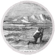 Arctic: Bear Hunting, 1871 Round Beach Towel