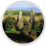 Ardgroom, Co Cork, Ireland Stone Circle Round Beach Towel