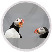 Are You Listening To Me Round Beach Towel