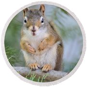 Are You Looking At Me Round Beach Towel