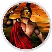 Ares Round Beach Towel