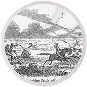Argentina: Gauchos, 1853 Round Beach Towel