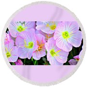 Arkansas Wildflowers Round Beach Towel