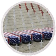 Arlington West Round Beach Towel