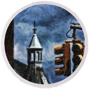 Armory And The Lights Round Beach Towel