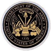 Army Medallion Round Beach Towel