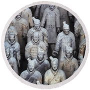 Army Of Terracotta Warriors In Xian Round Beach Towel