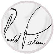Arnold Palmer (1929-  ) Round Beach Towel