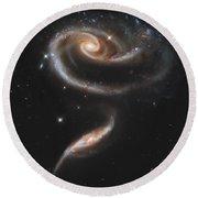 Arp 273 Interacting Galaxies Round Beach Towel