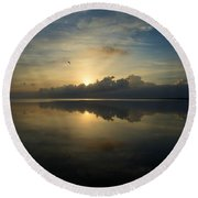 Arrow On The Horizon Round Beach Towel