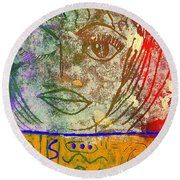 Art   Always Remember Truth Round Beach Towel by Angela L Walker