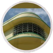 Art Deco Detail Round Beach Towel