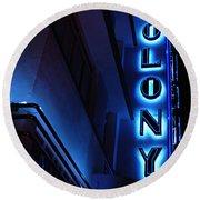Colony Hotel Art Deco District Miami 2 Round Beach Towel