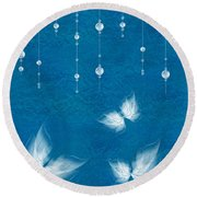 Art En Blanc - S11dt01 Round Beach Towel