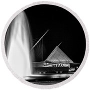 Art Fountain Round Beach Towel