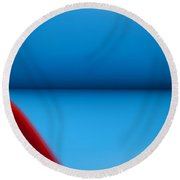 Art In Abstract Round Beach Towel