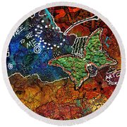 Art Therapy Round Beach Towel