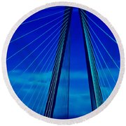 Arthur Ravenel Jr Bridge IIi Round Beach Towel