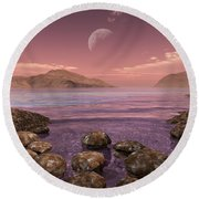 Artists Concept Of Archean Round Beach Towel