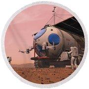 Artists Concept Of How A Martian Round Beach Towel