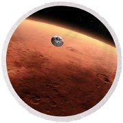 Artists Concept Of Nasas Mars Science Round Beach Towel
