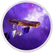 Artists Concept Of Space Interferometry Round Beach Towel