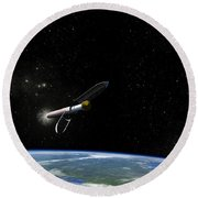 Artists Concept Of The Atlas V541 Round Beach Towel