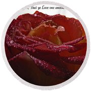 As I Have Loved You Round Beach Towel