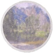 As If Monet Painted Yosemite Round Beach Towel