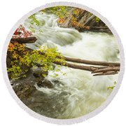 As The River Flows Round Beach Towel