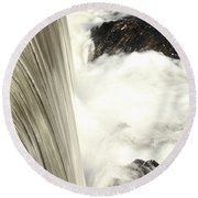 As The Water Falls Round Beach Towel