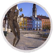 Ascona - Switzerland Round Beach Towel