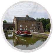 Ashby Canal At Moira Furnace Round Beach Towel