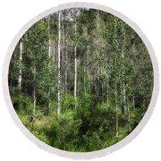 Aspen Trees - Vail Round Beach Towel