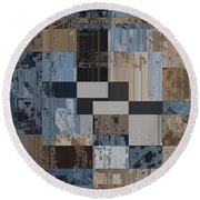 Aspiration Cubed 1 Round Beach Towel