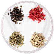 Assorted Peppercorns Round Beach Towel
