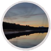 Assynt Reflections Round Beach Towel