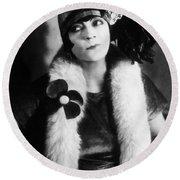 Asta Nielsen (1881-1972) Round Beach Towel