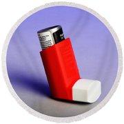 Asthma Inhaler Round Beach Towel