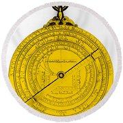 Astrolabe Round Beach Towel by Omikron