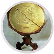 Astrolabe Round Beach Towel
