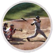 At Bat Round Beach Towel
