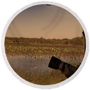At Mistake Billabong Kakadu National Park Round Beach Towel