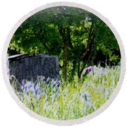 At Rest Round Beach Towel by Marilyn Wilson