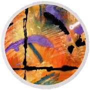 At Sunshine Crossing Round Beach Towel