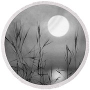 At The Full Moon Round Beach Towel